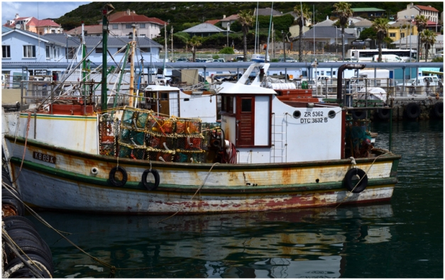 En route to Cape Point. This is a trawler in Kalk Bay harbour.
