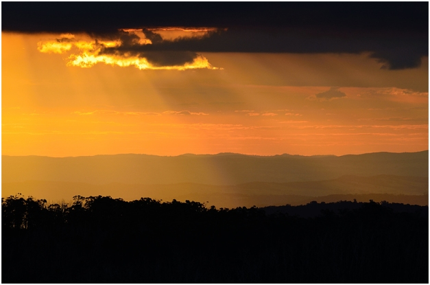 We had one really spectacular sunset while staying at Cabramurra...